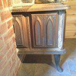 sauna stove in hot room