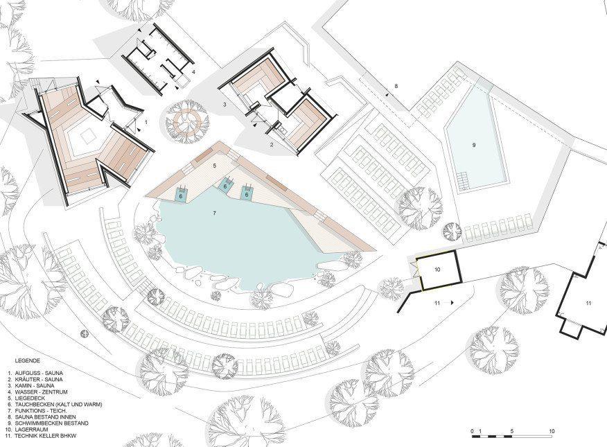 Sauna Village layout. Photo: Sandra Wolf