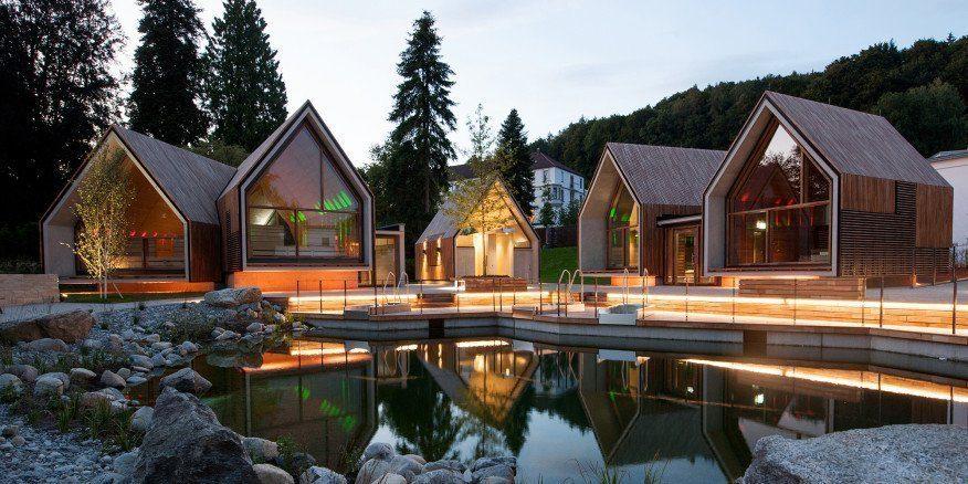 Sauna Village exterior. Photo: Sandra Wolf