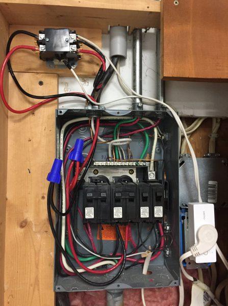 Janky 220v. wiring for sauna wifi