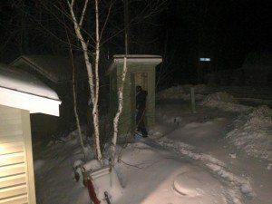 winter outhouse usage