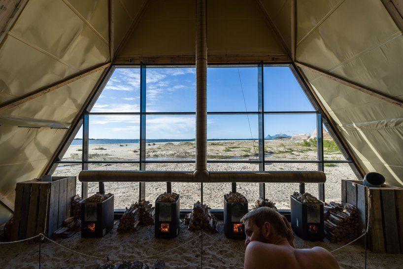 worlds-largest-sauna-agora-salt-festival-norway-designboom-04